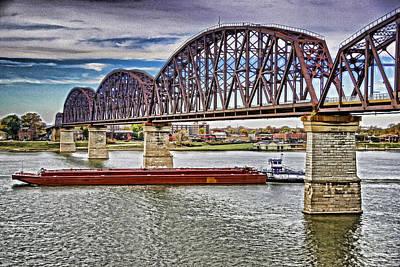 Ohio River Bridge Art Print by Dennis Cox