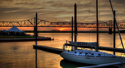 Ohio River Sailing Art Print