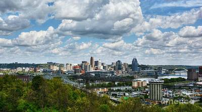 Bank Clouds Hills Photograph - Ohio River Valley At Cincinnati by Mel Steinhauer