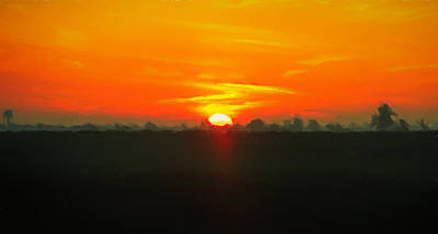 Painting - Ohio Rural Sunset by Dan Sproul