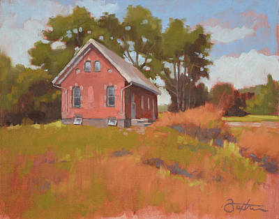 Brick Schools Painting - Ohio Schoolhouse by Todd Baxter