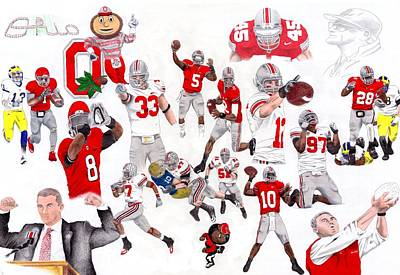 Fuck Drawing - Ohio State Collage by Gerard  Schneider Jr
