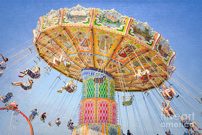 Photograph - Ohio State Fair Wave Swinger IIi by Clarence Holmes