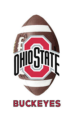 Digital Art - Ohio State Football by Daniel Hagerman