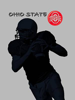 Michigan State Digital Art - Ohio State Football by David Dehner
