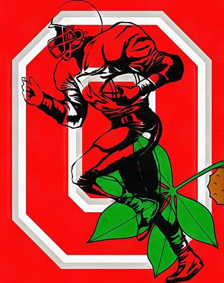 Ohio State Football Player Art Print
