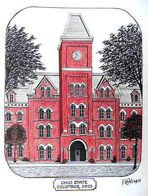 Drawing - Ohio State by Frederic Kohli