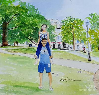 Painting - Ohio State Memories by Jill Morris