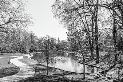 Honorarium Photograph - Ohio State University Mirror Lake by University Icons