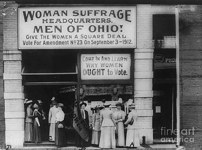 Womens Photograph - Ohio Suffrage Headquarters In Cleveland by Padre Art