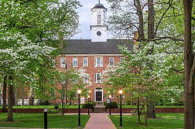Ohio University Cutler Hall In Spring Art Print by Robert Powell