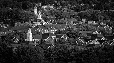Ou. Ohio University Photograph - Ohio University South Green In Black And White by Robert Powell