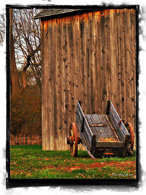 Photograph - Ohio Wheelbarrel In Autumn by Joan  Minchak