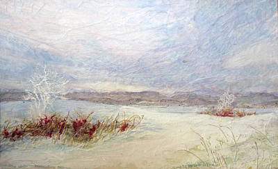 Impressionist Mixed Media - Ohio Winter by Lee Baker DeVore