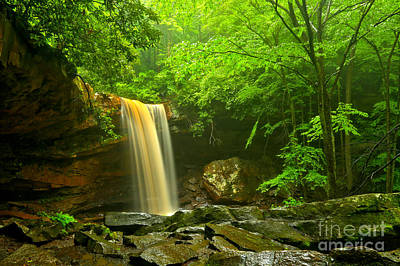 Photograph - Ohiopyle Cucumber Falls Canyon by Adam Jewell