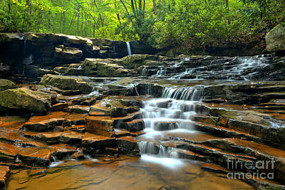 Photograph - Ohiopyle Waterfall Cascade by Adam Jewell