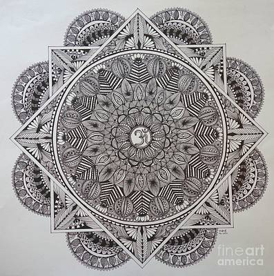 Drawing - Ohm Mandala by Usha Rai