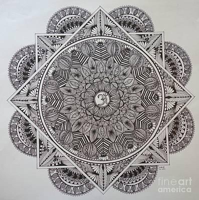 Ohm Mandala Art Print