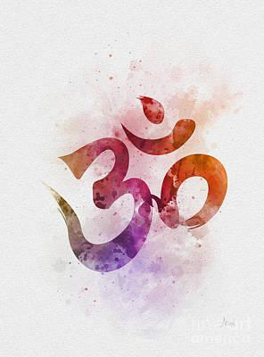 Mixed Media - Ohm Symbol by Rebecca Jenkins