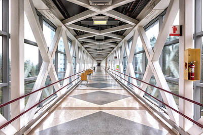 Photograph - Ohsu Suspended Skybridge by Belinda Greb