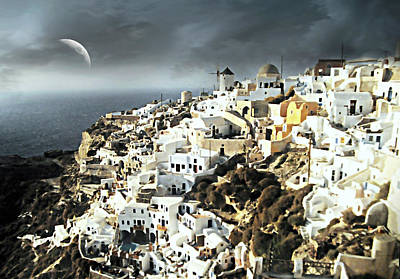 Photograph - Oia At Santorini by Diana Angstadt