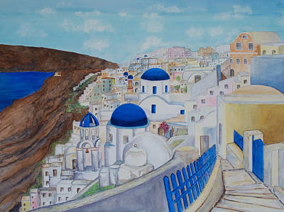 Painting - Oia Santorini by Patricia Beebe