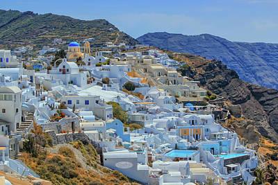 Photograph - Oia Village On Santorini Island, North, Greece by Elenarts - Elena Duvernay photo