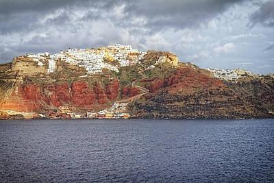 Photograph - Oia Village Santorini by Adam Rainoff