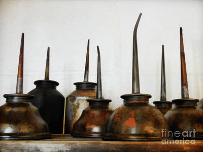 Oil Can, Rusted Art Print by Laura Atkinson