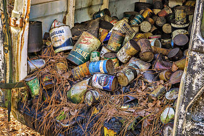 Photograph - Oil Cans by Dennis Dugan