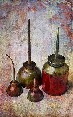 Photograph - Oil Cans by Garry Gay
