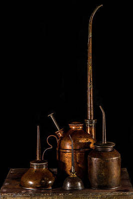 Photograph - Oil Cans by Paul Freidlund