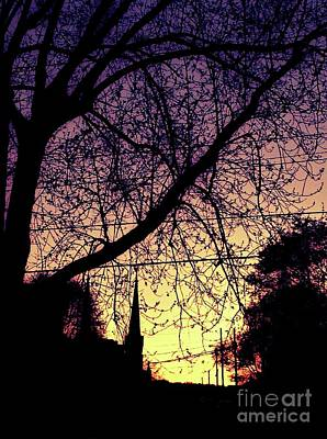 City Sunset Digital Art - Oil City Sunset by Brandi Kostek