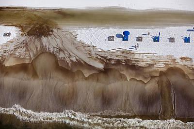 Oil-covered White Sands Of Orange Beach Art Print by Tyrone Turner