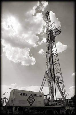 Photograph - Oil Derrick II by Ricky Barnard