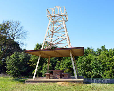 Photograph - Oil Derrick Picnic Table by Catherine Sherman
