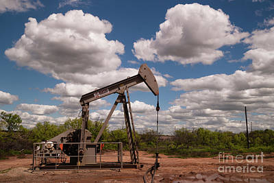 Photograph - Oil Derrick Pump Jack Fracking Energy Production by Christopher Boswell