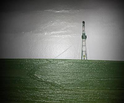 Jack Drill Digital Art - Oil Drilling Rig #7  by Dennis Thompson