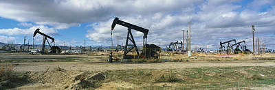 Oil Rig Photograph - Oil Field by Panoramic Images