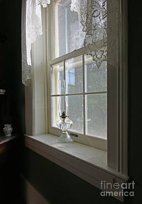 Photograph - Oil Lamp In Window 4313 by Jack Schultz