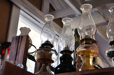Photograph - Oil Lamps by Jan Amiss Photography