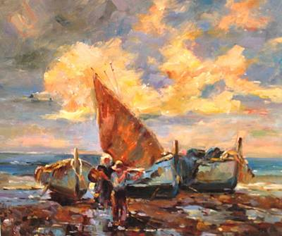 Painting - Oil Msc 103 by Mario Sergio Calzi