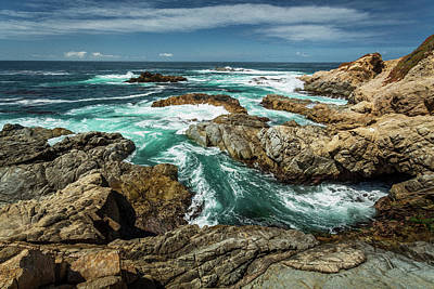 Photograph - Oil Paint Of Rocks And Waves by Rick Strobaugh