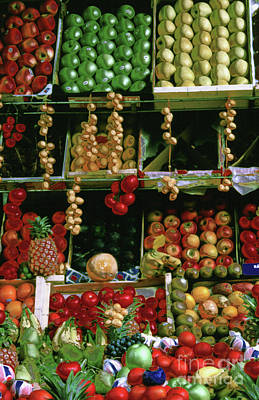 Photograph - Oil Painted Faux Paris Fruit Display by Tom Wurl