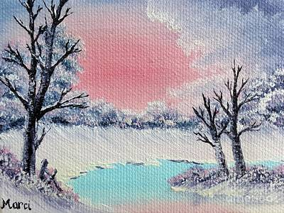 Bob Ross Style Photograph - Oil Painting 1 by Marci J Ryan
