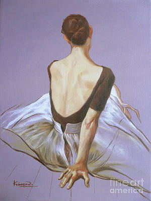 Painting - Oil Painting Ballet Dancer Girl  On Canvas Panel#16-12-2 by Hongtao Huang