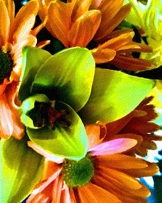 Mixed Media - Oil Painting Flowers by Femina Photo Art By Maggie