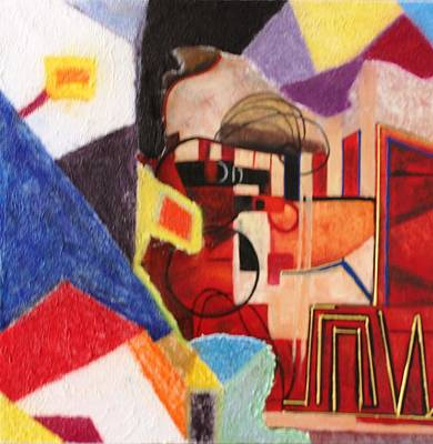 Painting - Oil Pastel Msc 120 by Mario Sergio Calzi
