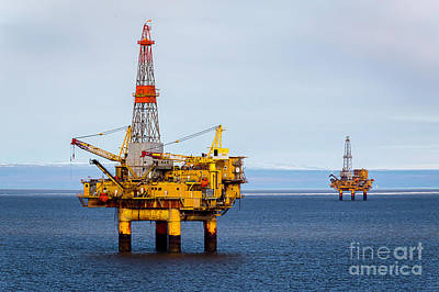 Photograph - Oil Platform Rigs by Sal Ahmed