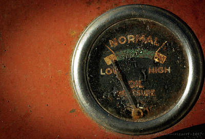 Photograph - Oil Pressure Gauge Massey Ferguson Farm Tractor by Henri Irizarri